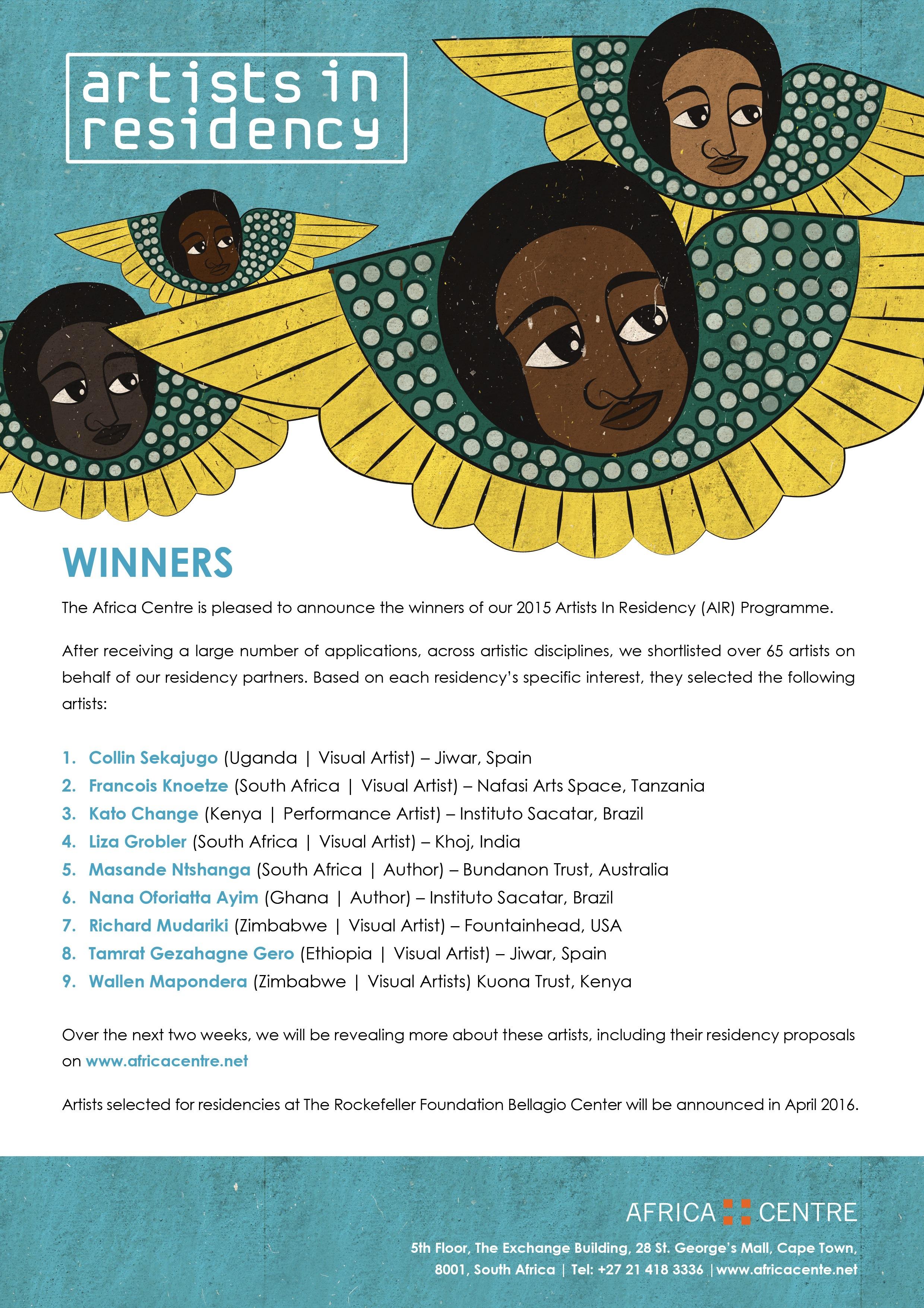 AIR 2015 Winners Announcement