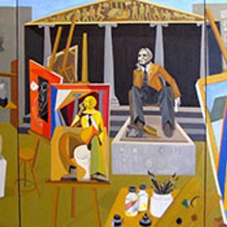 richard-mudariki-The-Model-oil-on-canvas-101x127cm-each-panel-th